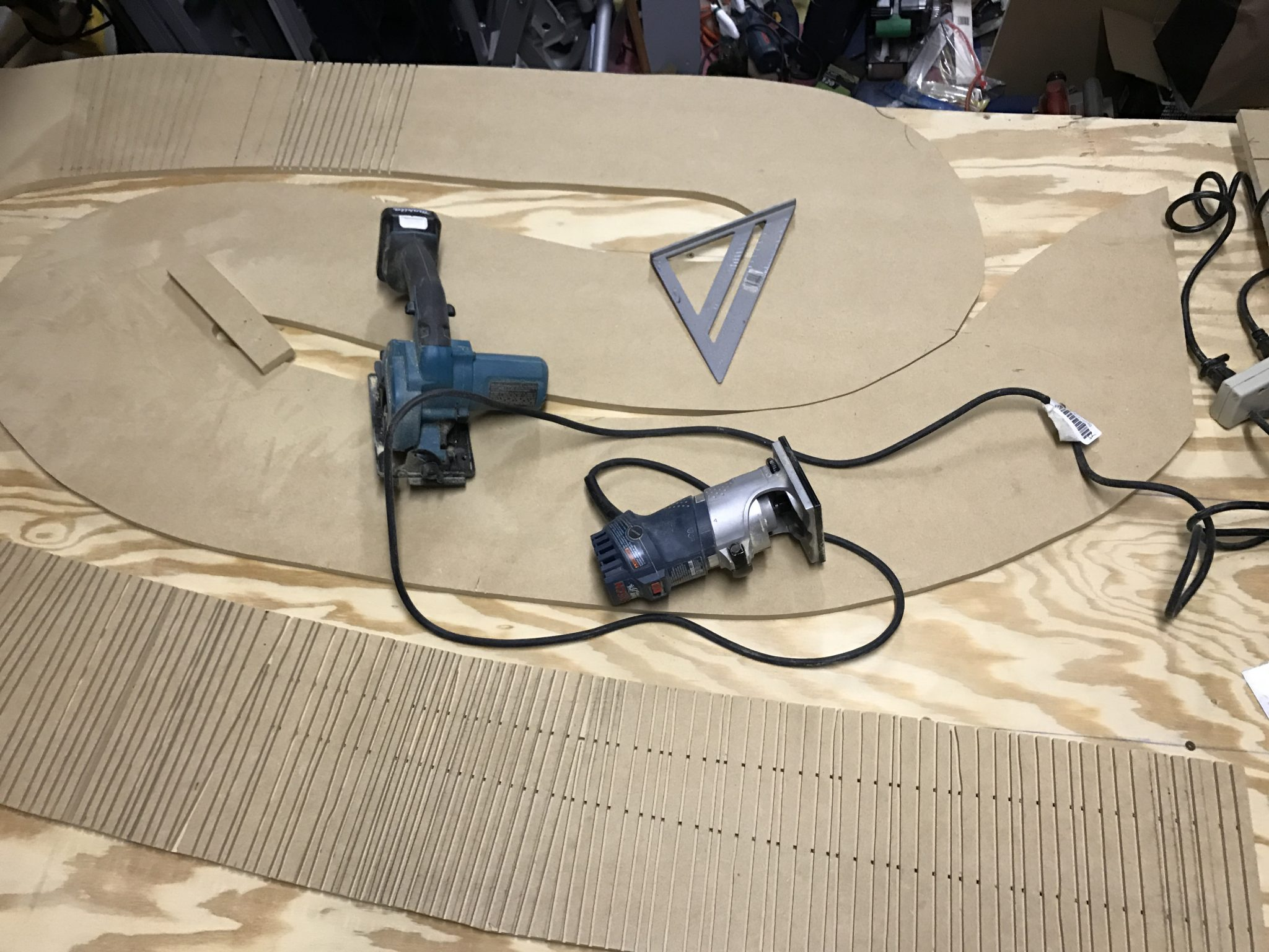 New Rally Track Update Moving To Kings 7 2 17 Austin Slot Car Wiring The Next Step Was Cut Slots On Bottom Of That Run Perpendicular Routed Lane These Cutouts Needed Be Done Every 3 8 With