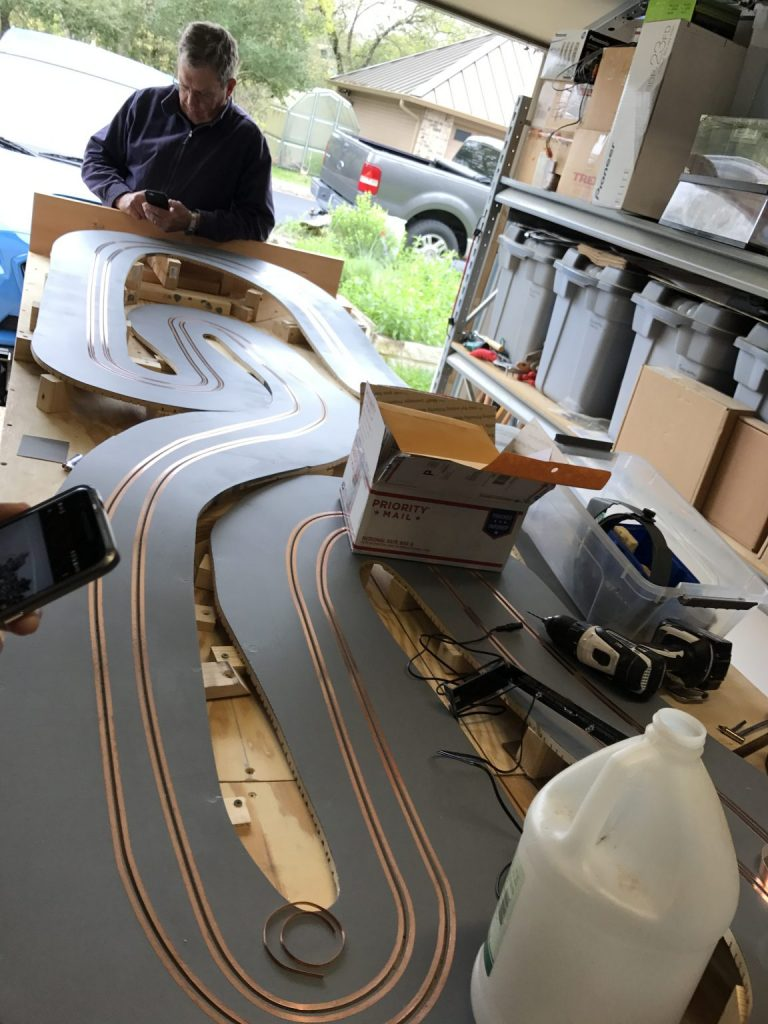 New Rally Track Update Moving To Kings 7 2 17 Austin Slot Car Wiring The Next Job Will Be Install Sides Of Wire Xlr Connector Run Wires For Power Supply Timing System And Build